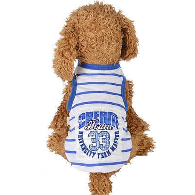 Designer Logo Sleeveless T-shirts - Posh Pooch Accessories
