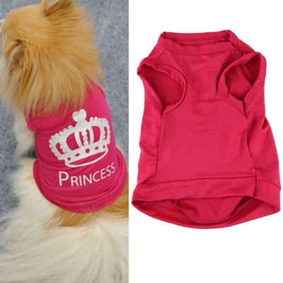 Pet Dog Cat Cute Princess T-shirt - Posh Pooch Accessories