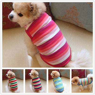 Cotton Stripe Pet Dog Puppy Clothing - Posh Pooch Accessories