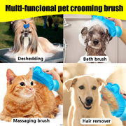 Rubber Dog Grooming Brush Comb Glove Long Short - Posh Pooch Accessories