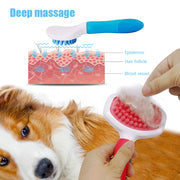Silicone Dog Comb Grooming Brush Deshedding Tools - Posh Pooch Accessories