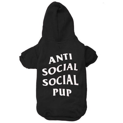 Anti Social Pup Hoodie | Dog Clothing - Posh Pooch Accessories