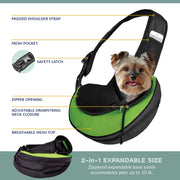 Pet Sling Green - Posh Pooch Accessories