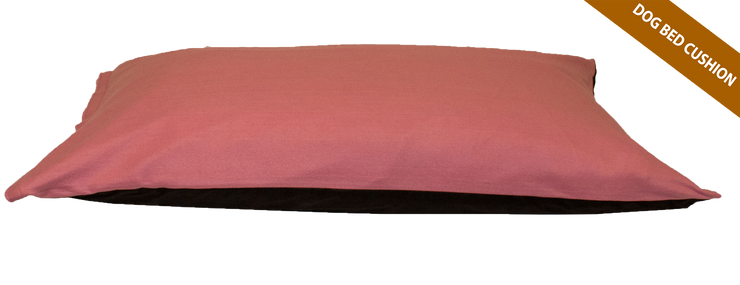 Baby Pink Cushion Dog Bed Fibre+Foam Filled Removable Fleece Cover - Posh Pooch Accessories