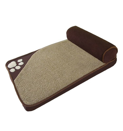 Rectangle bed with Cushion with Pillow Washable - Posh Pooch Accessories