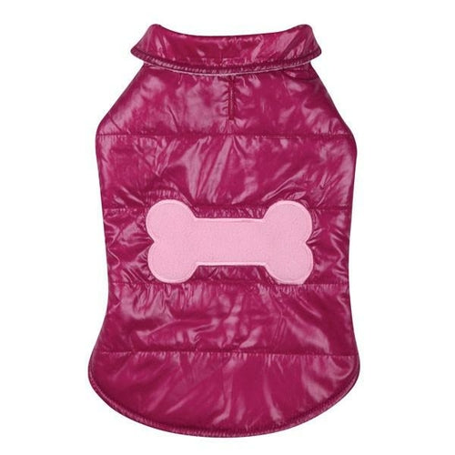 Pink Snow Puff Vest - Posh Pooch Accessories