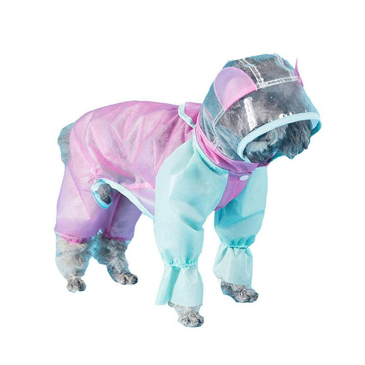 Raincoat Hooded Reflective Jackets Dog Rain Coat - Posh Pooch Accessories
