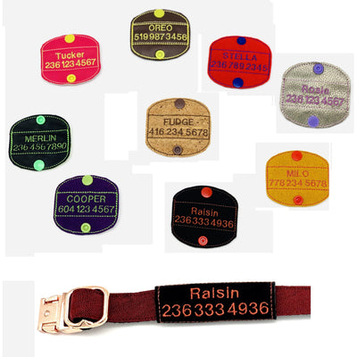 Personalized dog ID tags/patches