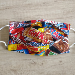 Chocolate Snacks Mask (white)