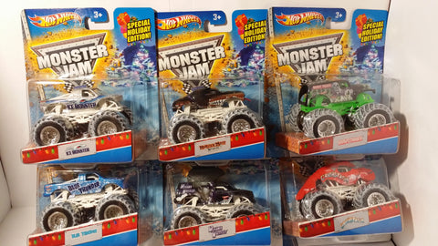 2013 Christmas Wal-Mart Exclusive Monster Jam Trucks Complete Set