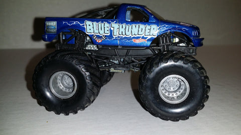 Blue Thunder (Vintage) 2002  1/64 Metal Small Hub Monster Truck (Loose)
