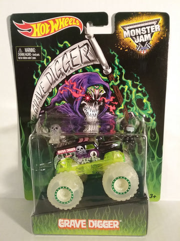 GraveDigger (Glow in the Dark) special edition 1/64 Monster Truck (Mint and New in Package)