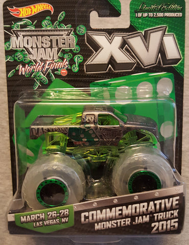 2015 World Finals 16 Exclusive Monster Truck 1/64 (New in Package). Limited Edition of only 2,500 made.