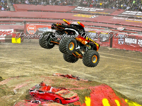El Torro Loco (Black) Monster Truck Photo or Poster