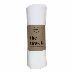 15 x Rolled Reusable Towels