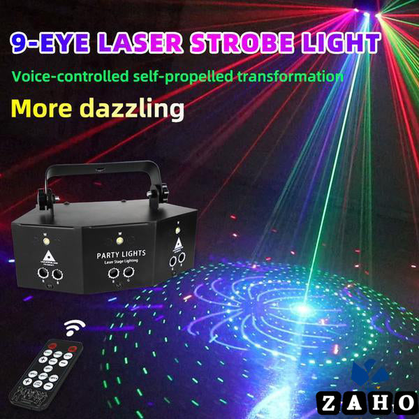 new nine-eye laser strobe light