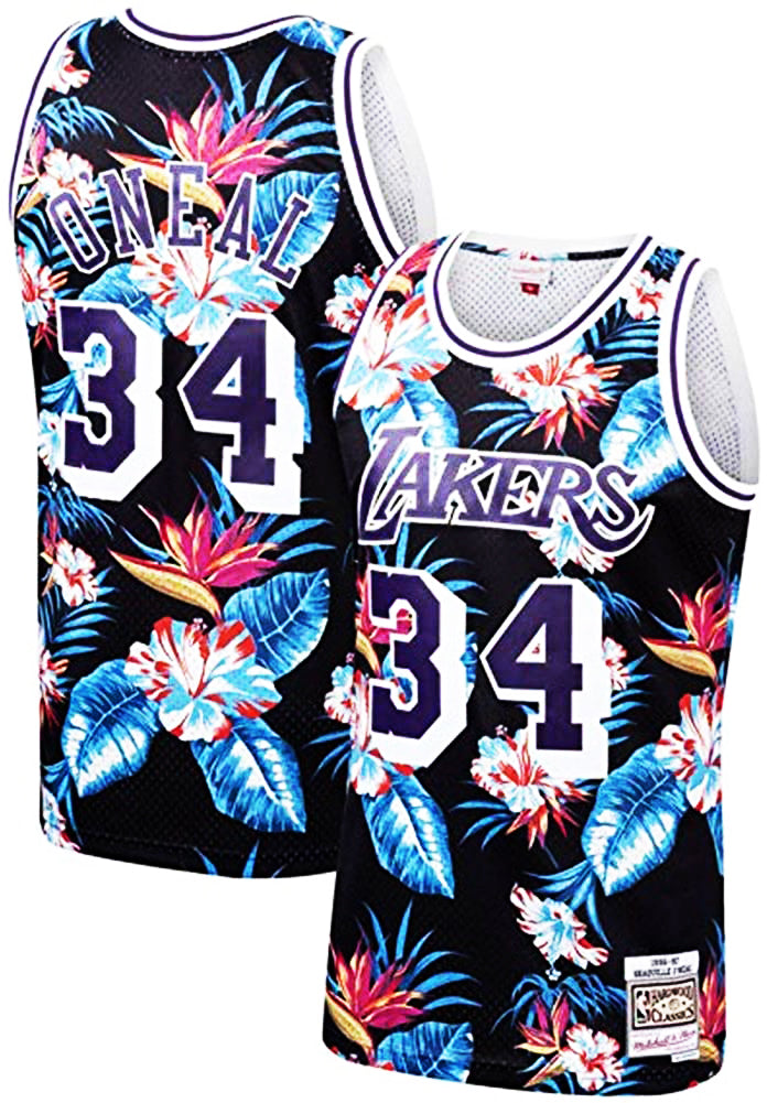 Shaquille O'neal Los Angeles Lakers Jersey #34 Flower Edition