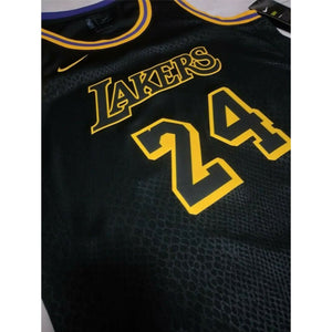 Los Angeles Lakers Kobe Bryant #24  Black Mamba Day Jerseys Black Mamba