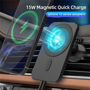 MAGNETIC CAR WIRELESS QI FAST CHARGER 15W
