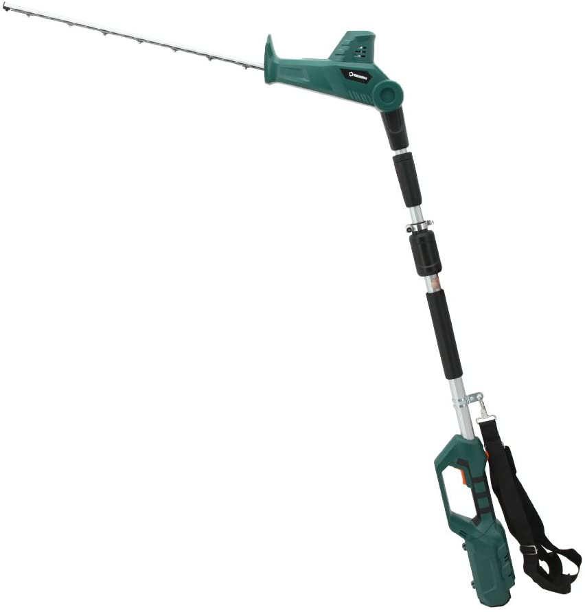 Cordless Electric Battery Powered 2-in-1 Pole Hedge Trimmer