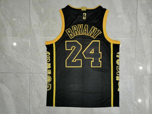 Black Mamba #8 #24 Jersey Kobe Bryant Los Lakers Retirement Edition collection