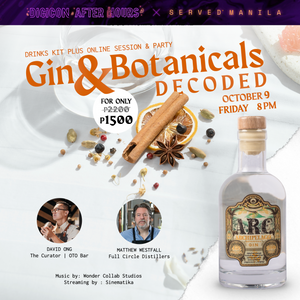October 9, 8PM - Gin & Botanicals Decoded