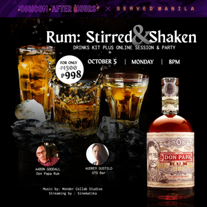 October 5, 8PM - Rum: Stirred and Shaken