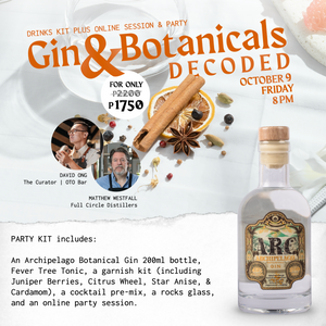 October 9, 8PM - Gin & Botanicals Decoded (SRVD)