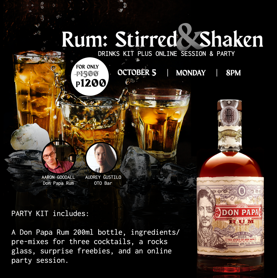 Oct 5, 8PM - Rum: Stirred & Shaken (SRVD)