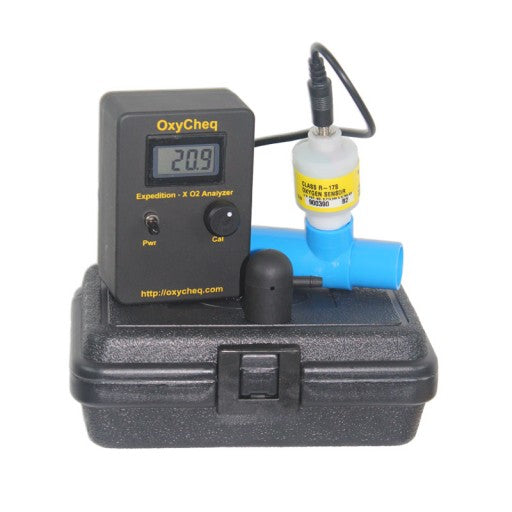 OxyCheq Expedition-X Oxygen Analyzer w/ Rear Sensor Plug