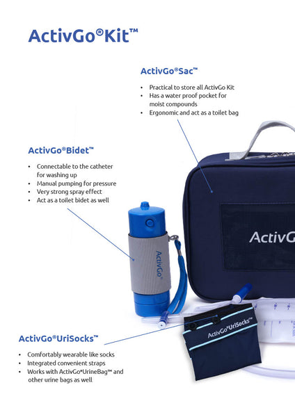 ActivGo Urinary Incontinence Kit for Bladder Leak and Urine Leak for overactive bladder, prostate cancer, sudden urine leak and wheelchair assist by ActivKare