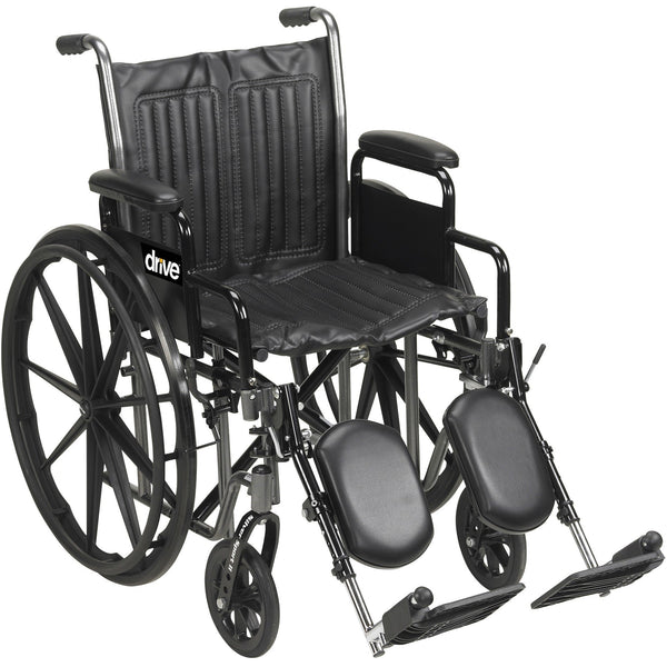 "SILVER SPORT 2 WHEELCHAIR ,SILVER VEIN,16"",DETACHABLE DESK ARM,SWING-AWAY FOOTRESTS. - ActivKare"