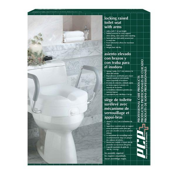 Molded Toilet Seat Riser with Arm Rests - ActivKare
