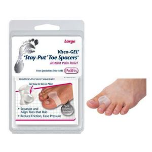 VISCO-GEL STAY-PUT TOE SPACER W/ SOFT GEL LOOP MINERAL OIL UNIVERSAL LARGE REUSABLE WASHABLE - ActivKare