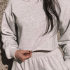BYE CROPPED SWEATSHIRT [HEATHER GRAY]