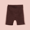 IVY ALLIE BIKER SHORTS [BROWN]