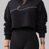 BYE CROPPED SWEATSHIRT [BLACK]
