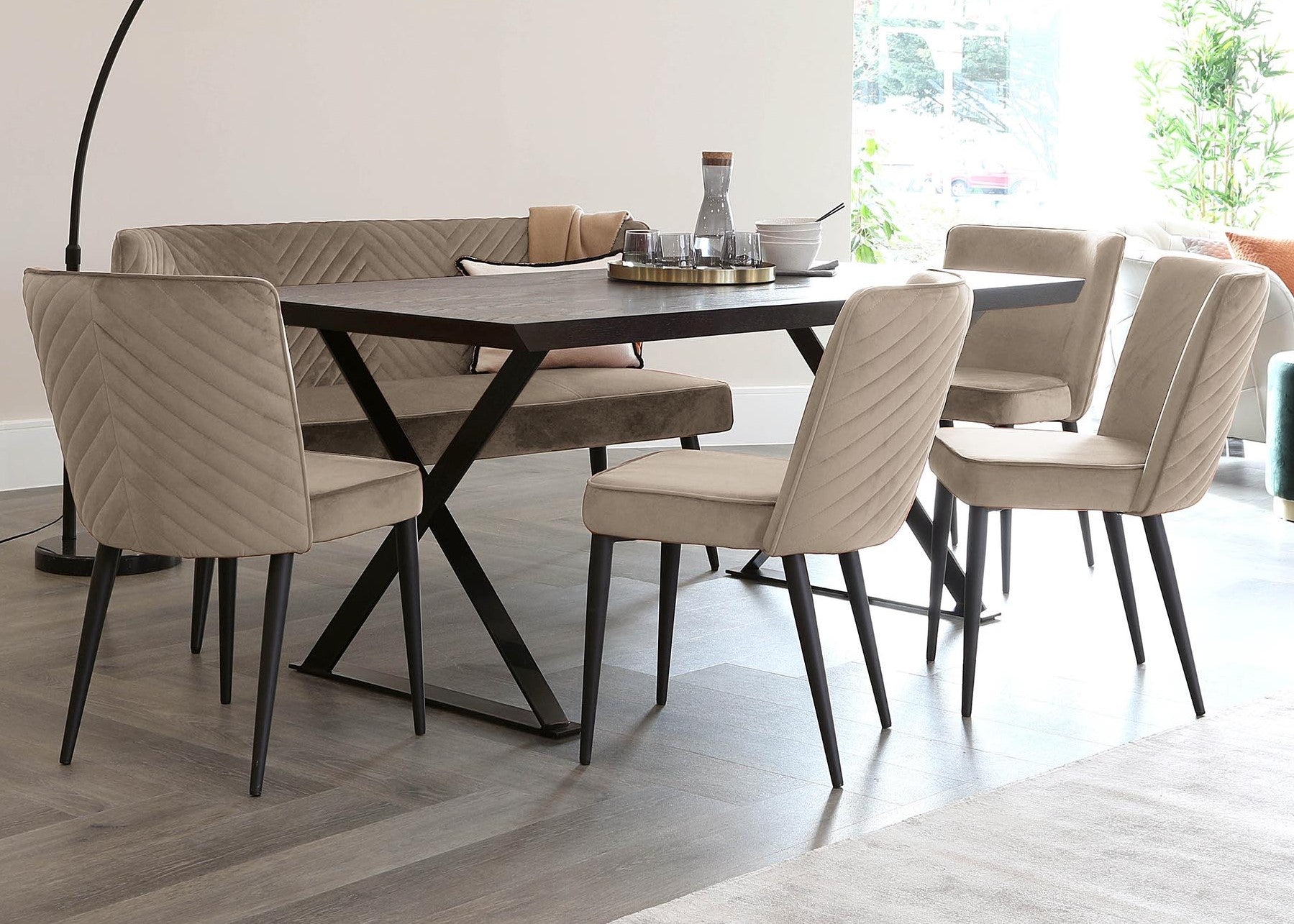 Stylish Matching Bar Stools and Dining Chairs
