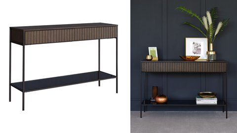 Toronto Dark Wood Console Table