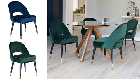 Clover Velvet Dining Chairs