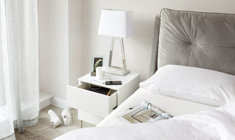 Noah White Gloss Bedside Table