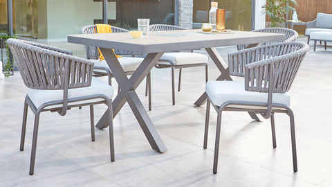 Rio Dining Table and Ivy Dining Chairs