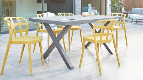 Our top pick for a 4 seater garden table and chairs: The Rio & Skye Set