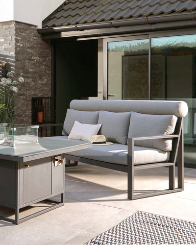 The Verano bench is perfect if you're looking for a patio sofa set