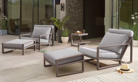 The perfect outdoor armchair: Verano Grey Garden Lounge Chair and Footstool