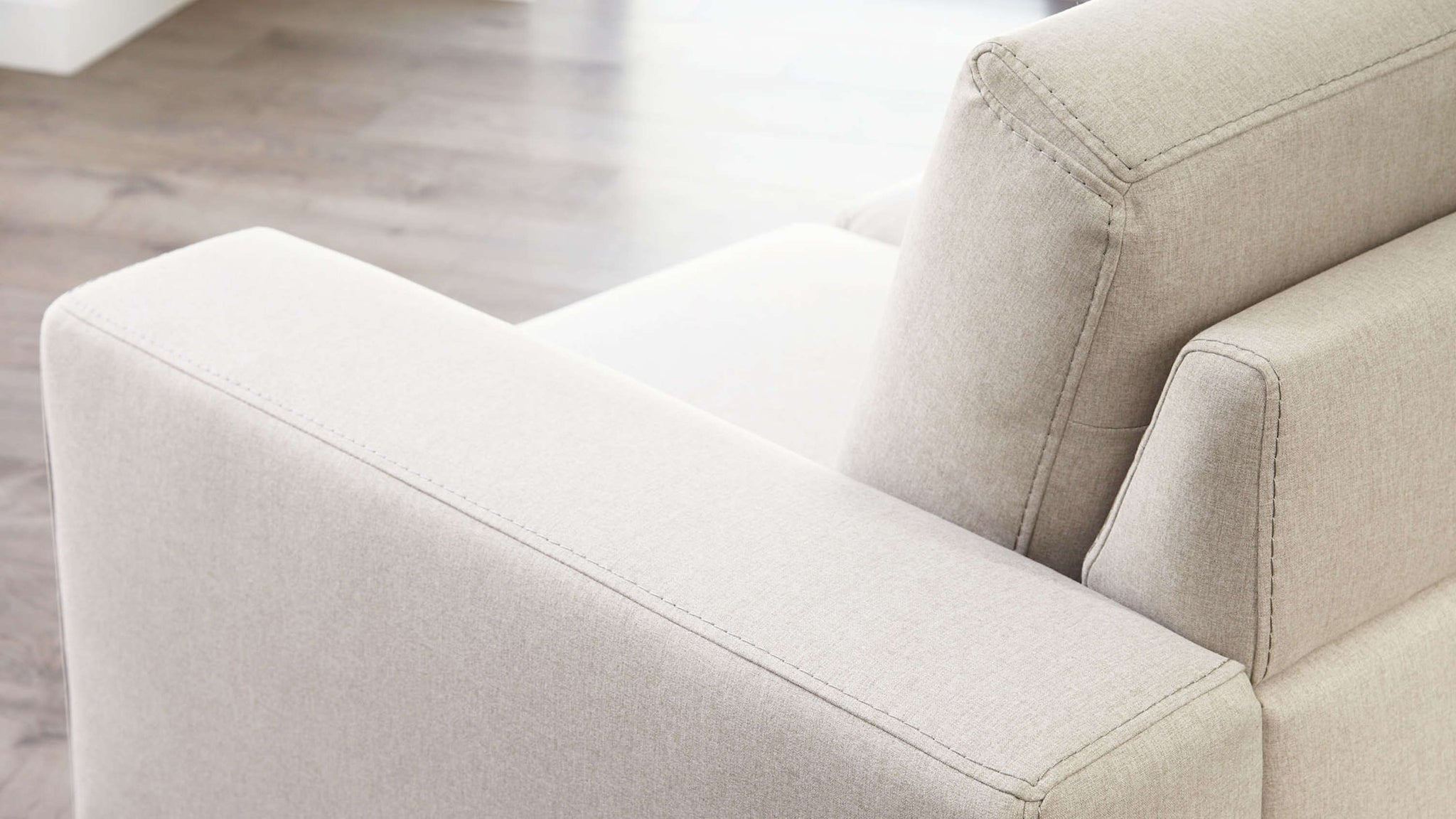 Buy material corner sofa with stitching