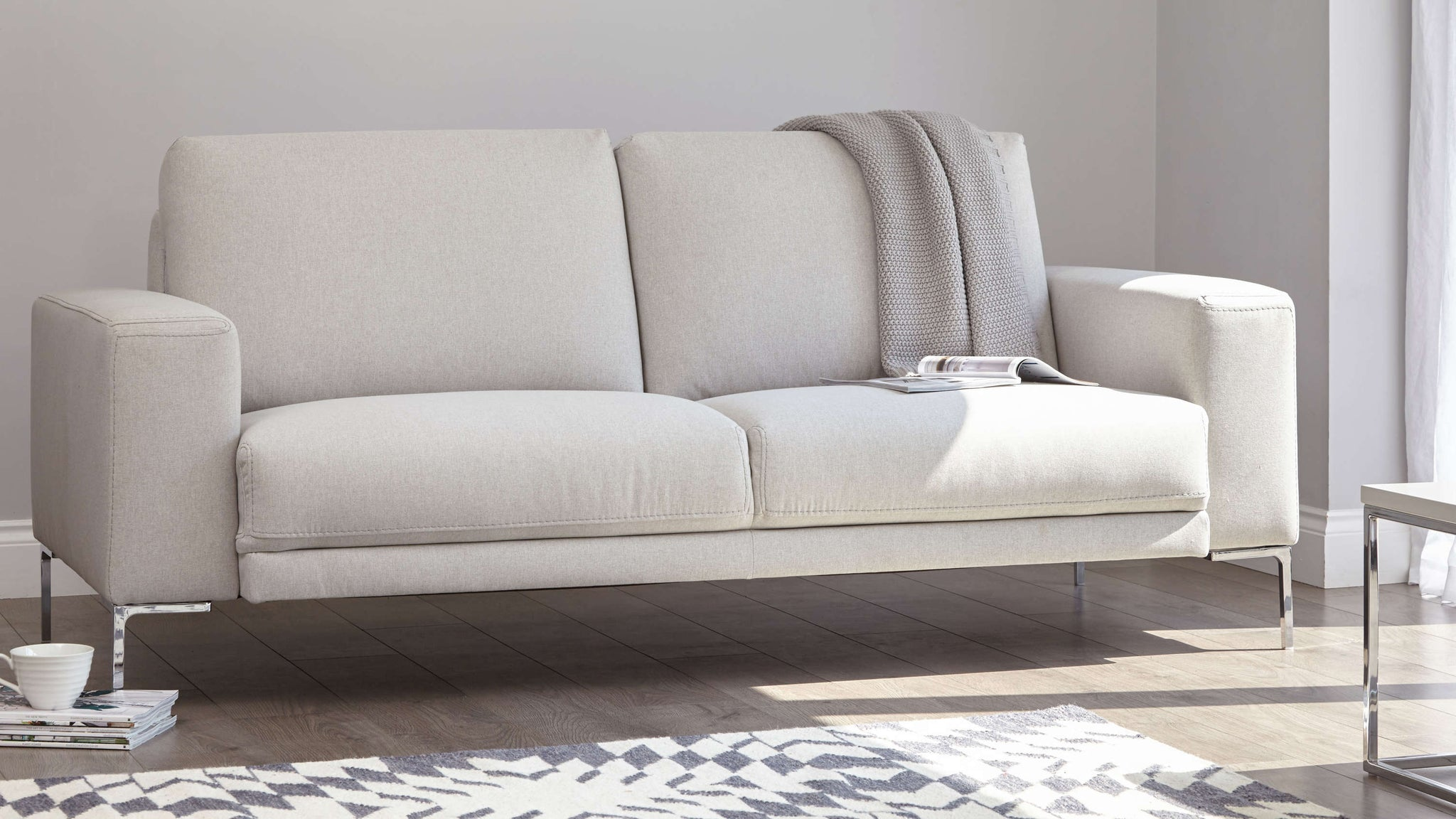 3 seater soft material sofa
