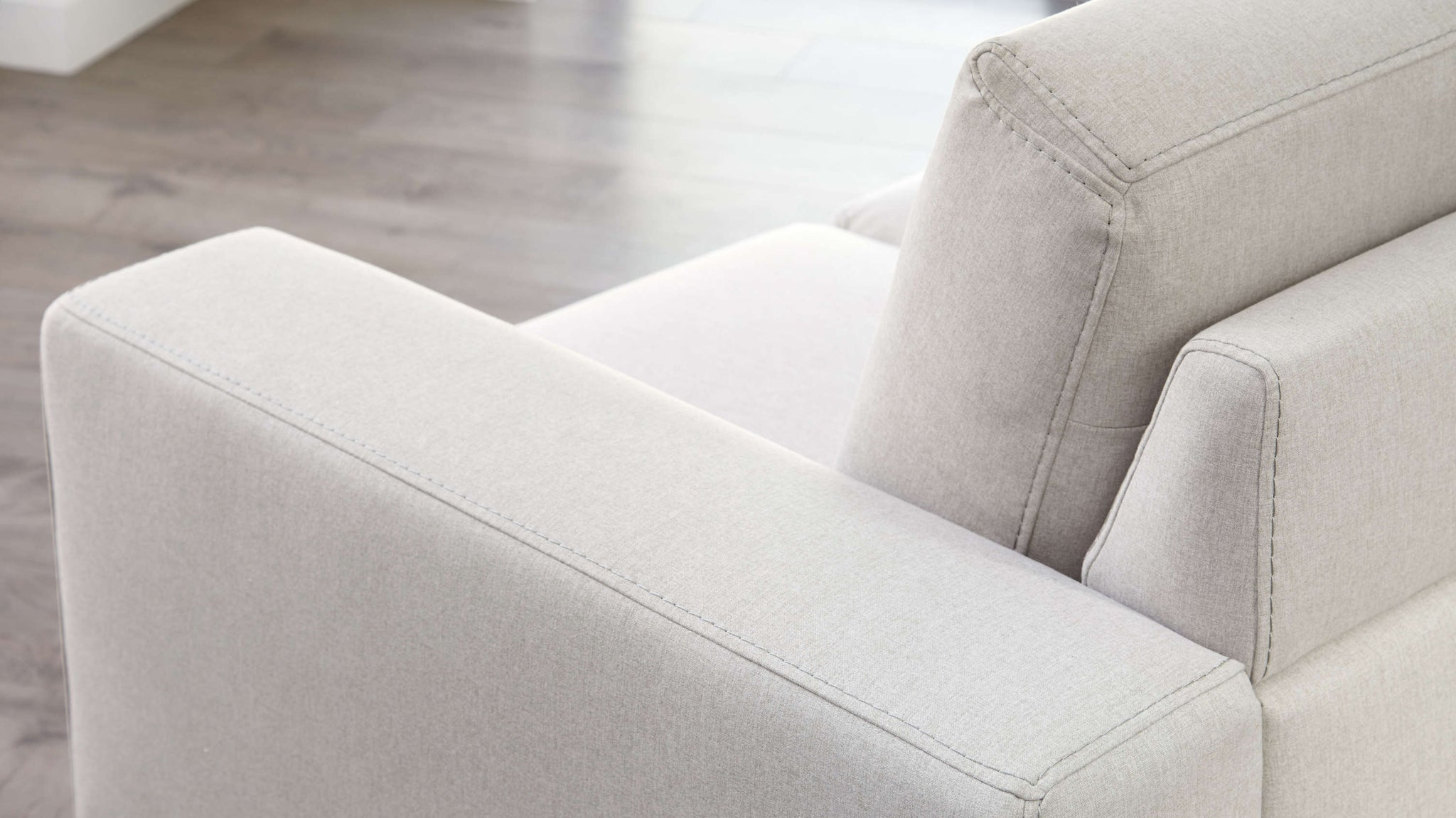 Soft material sofa with armrests