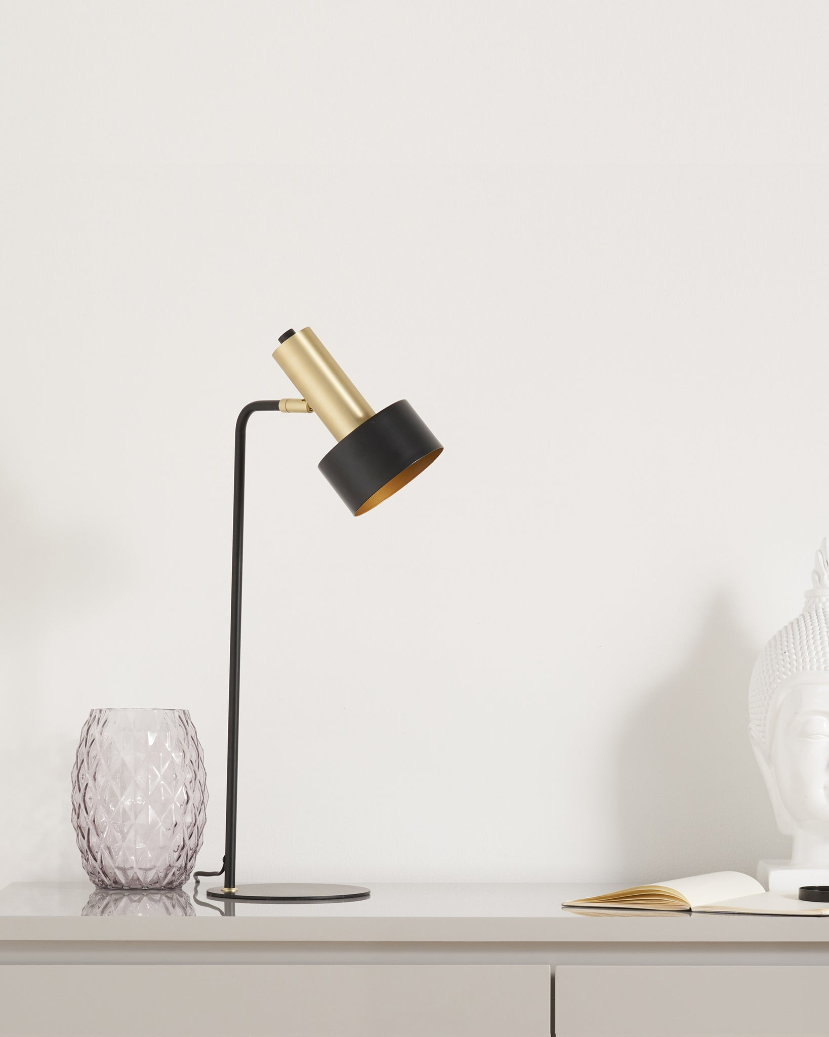 Alma Black And Brass Table Lamp