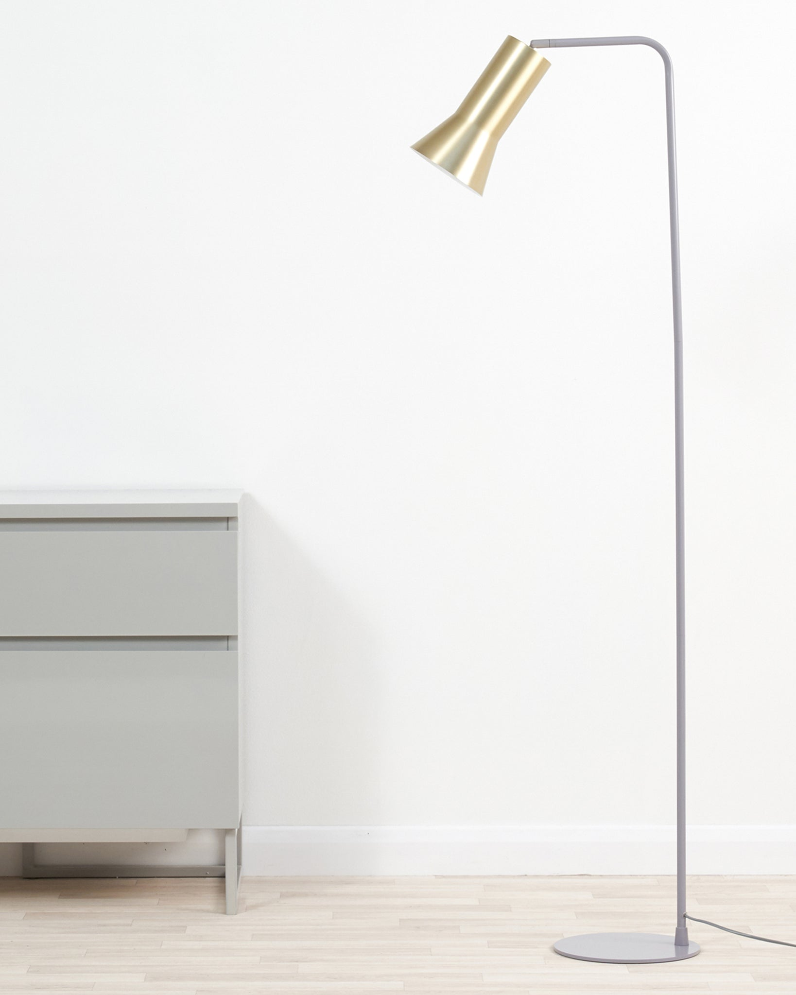 Alfie Grey And Brass Floor Lamp